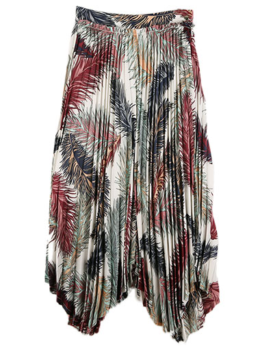 SK1564 Ethnic Pucci Wrinkles Skirt