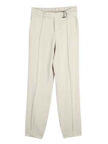P1525 Fellow pin tuck Slim Slacks (Beltset)