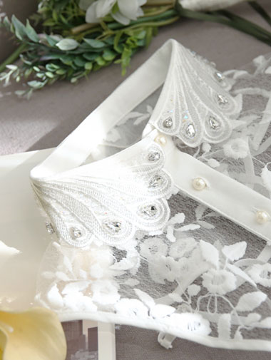 EC-119 Embroidery Lace Neck Cover (37reorder)