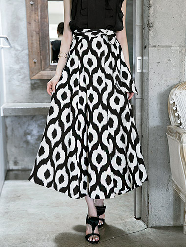 SK1719 unique Patterns mix Long Skirt (25reorder)