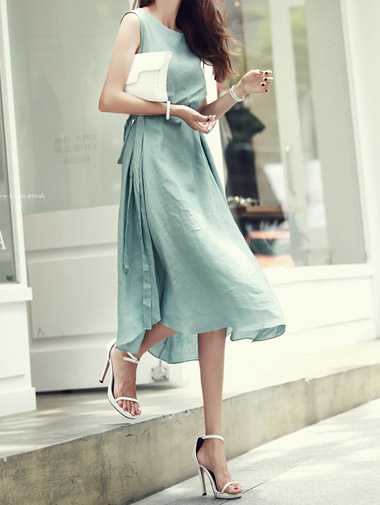 D-3546 Leo Flare Dress (Beltset) (175reorder)