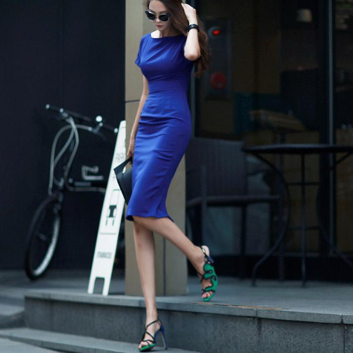 D2763 Perfect Slim Simple Dress (130reorder)
