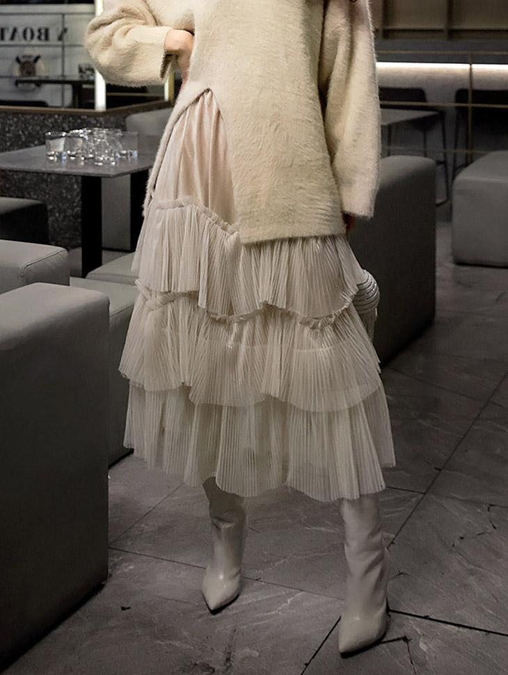 SK-491 Forbidden triple net Skirt (18reorder)