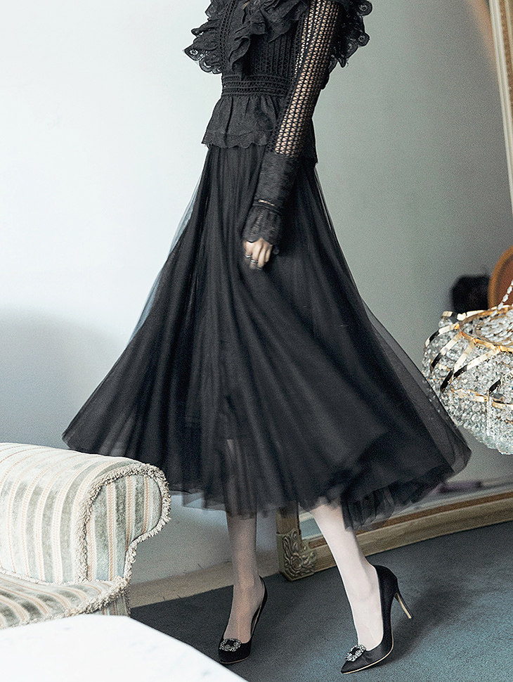 SK1807 Longloat Long Skirt (33reorder) (Storage will be shipped in early March)
