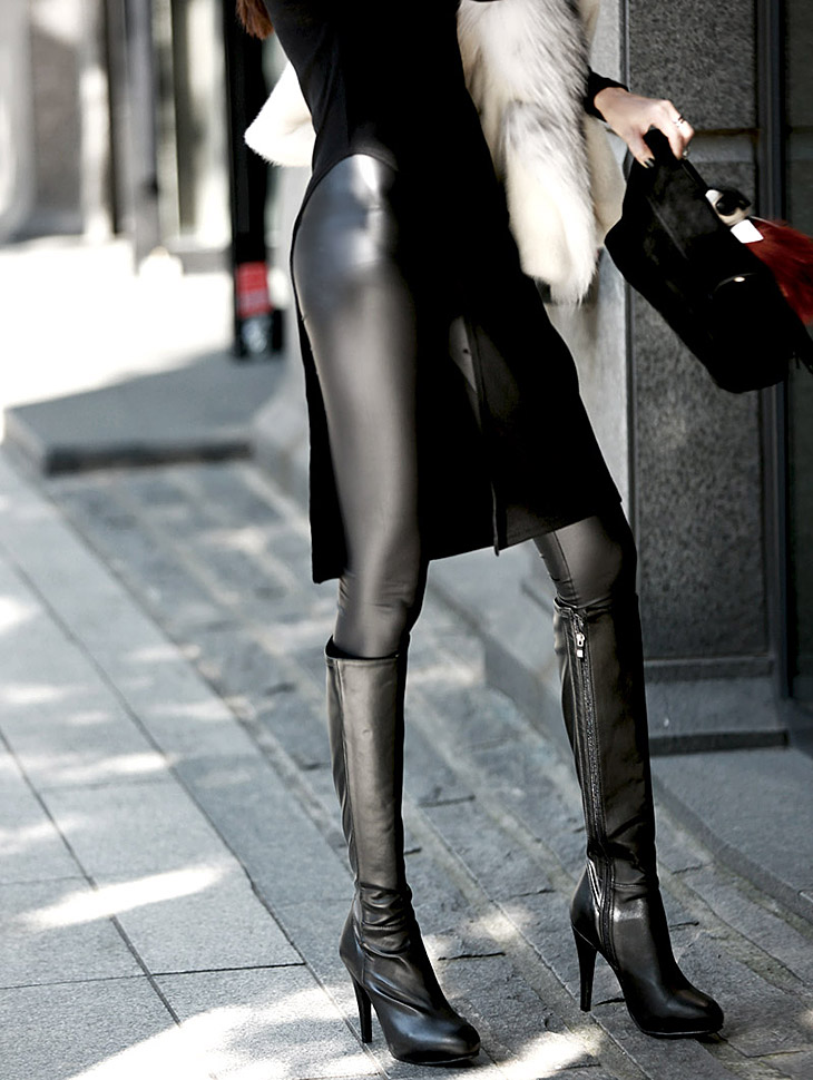 P1325 Leather Leggings (181th REORDER)