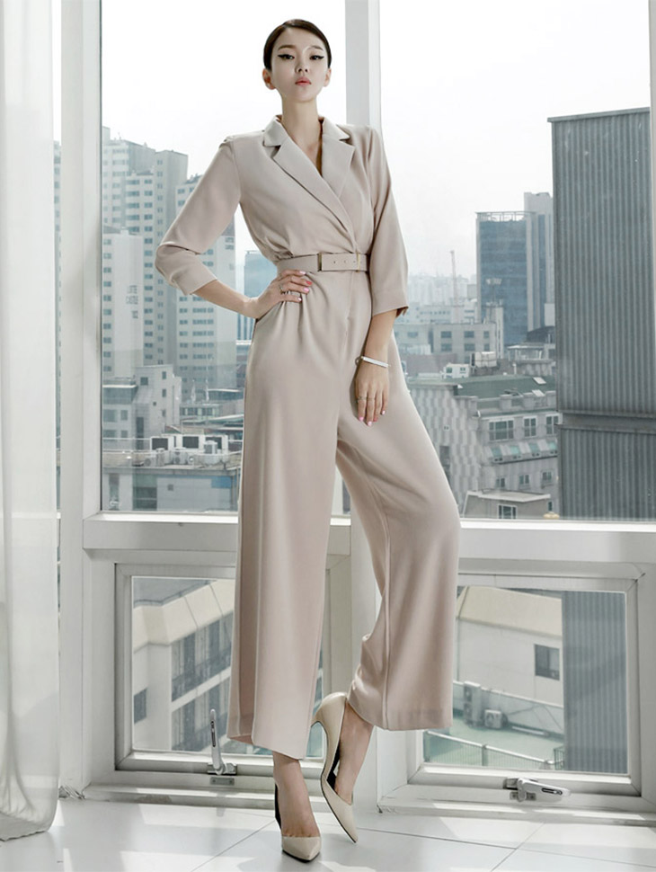 D3238 Modans wide jumpsuit (Beltset) (87th reorder) (mid August wearing, sequential shipping scheduled)