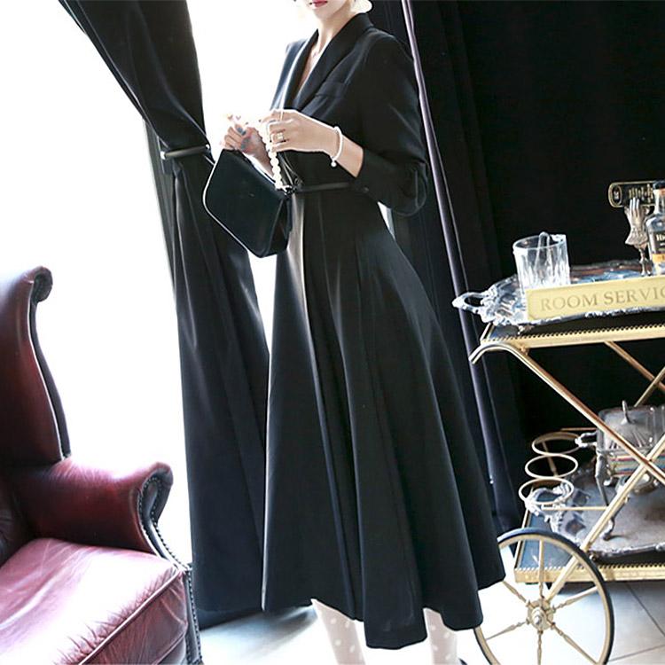 D3396 Melbourne Shawl Dress (belt set) * L size production * (106th REORDER)