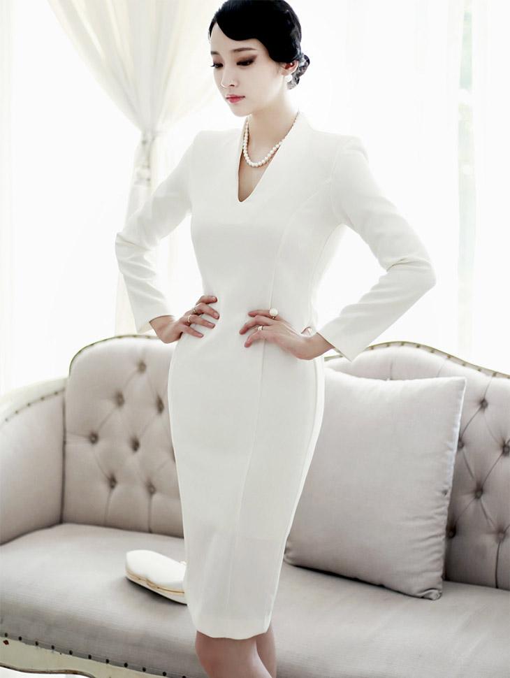 D3408 Blanc Slim Dress (71-reorder)
