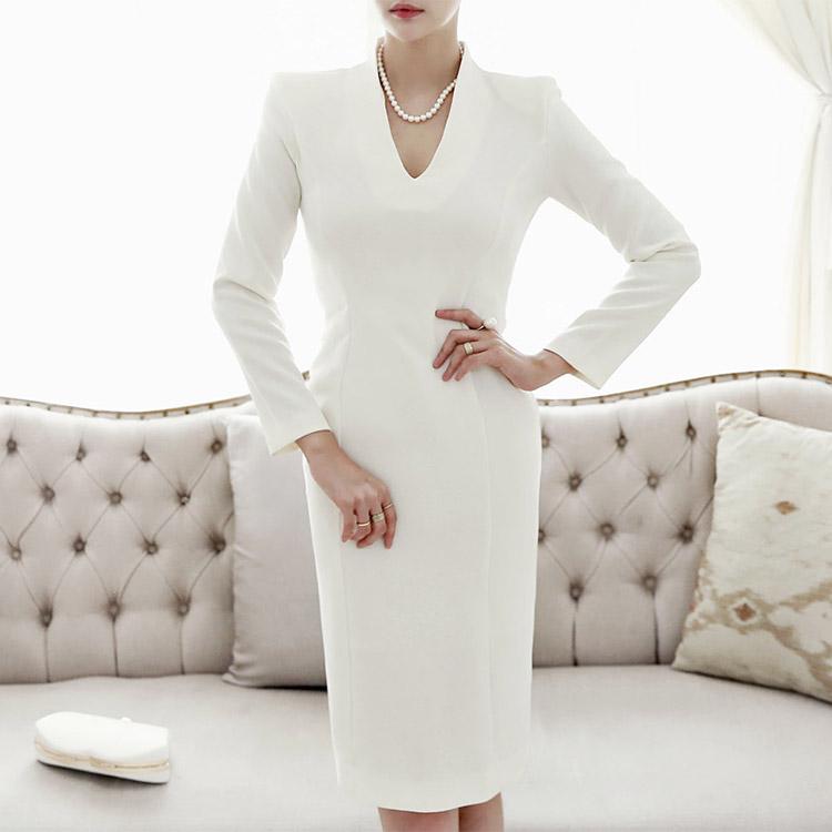 D3408 Blanc Slim Dress (71th REORDER)