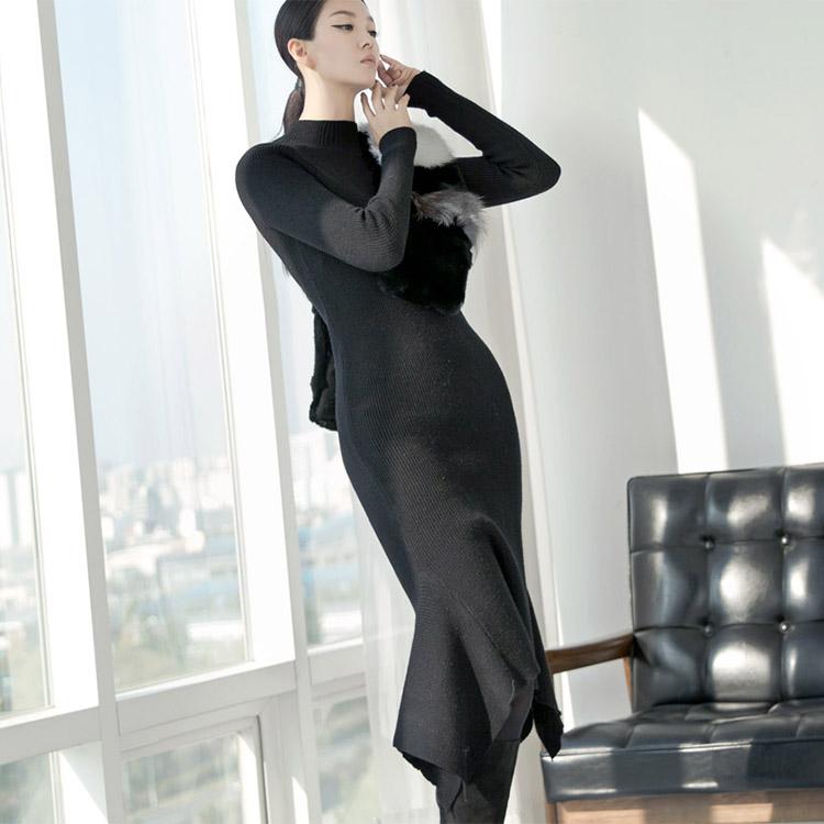 D-4409 Rodis Knit Long Dress (28th REORDER)
