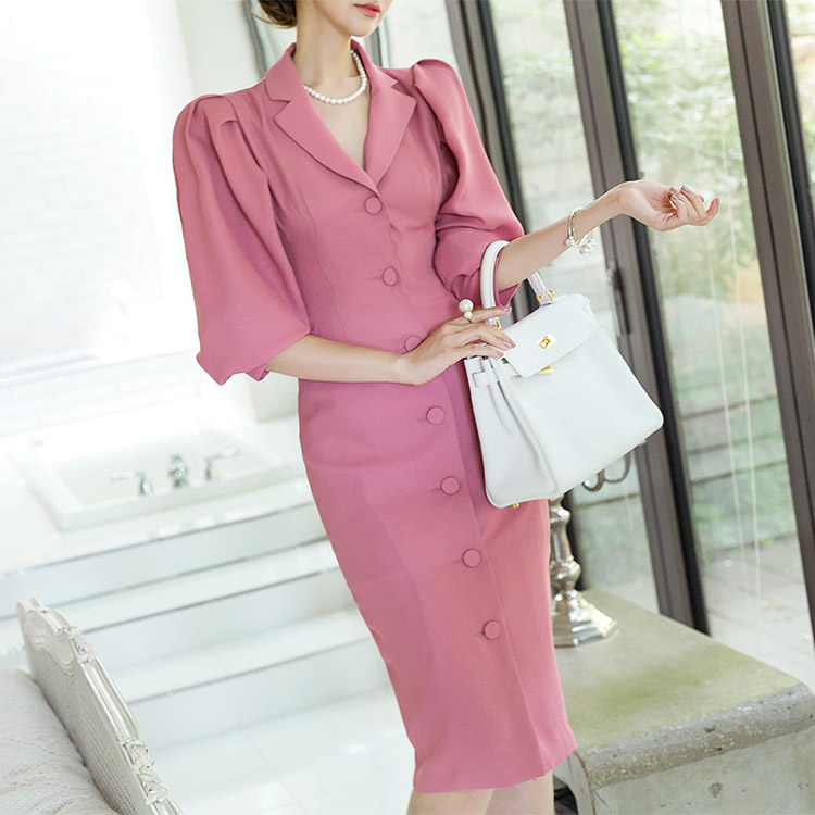 D-4462 Welsh Classic Dress (outer available) * S / S fabric * (45reorder)
