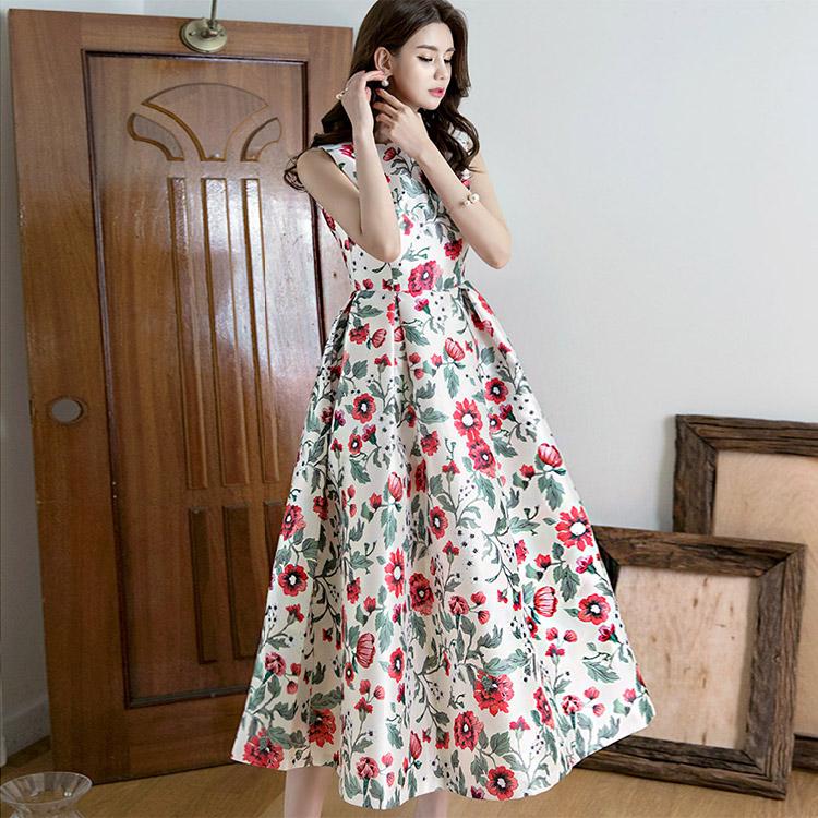 D9004 Marang Flower Volume Long Dress (40th REORDER)
