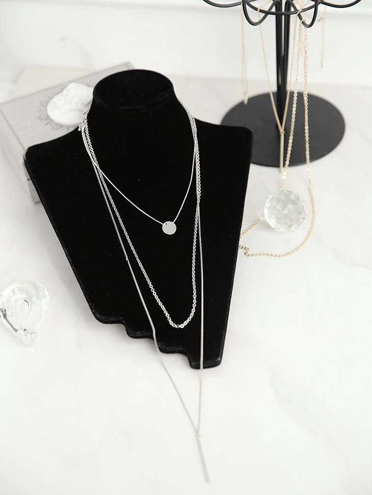 AJ-4043 Necklace (3Pieceset) (9reorder)