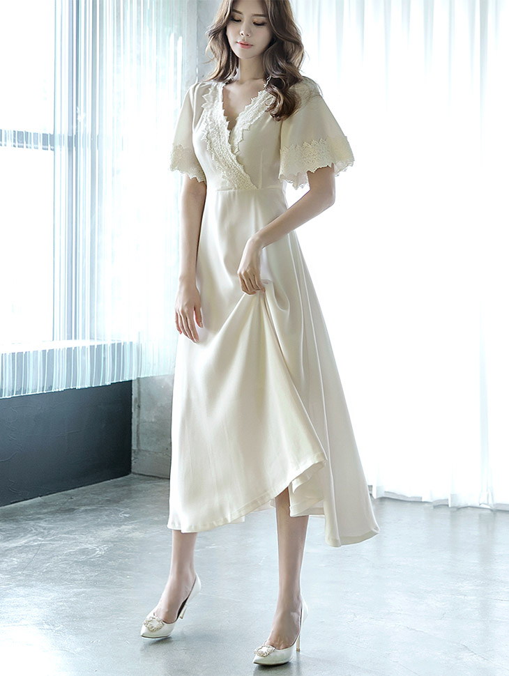 D3617 Jade Lace Long Dress (35reorder)