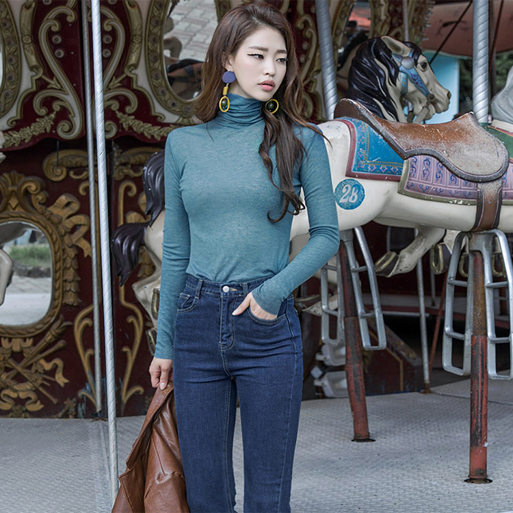 E1795 base Line Turtle neck Top (81th REORDER)