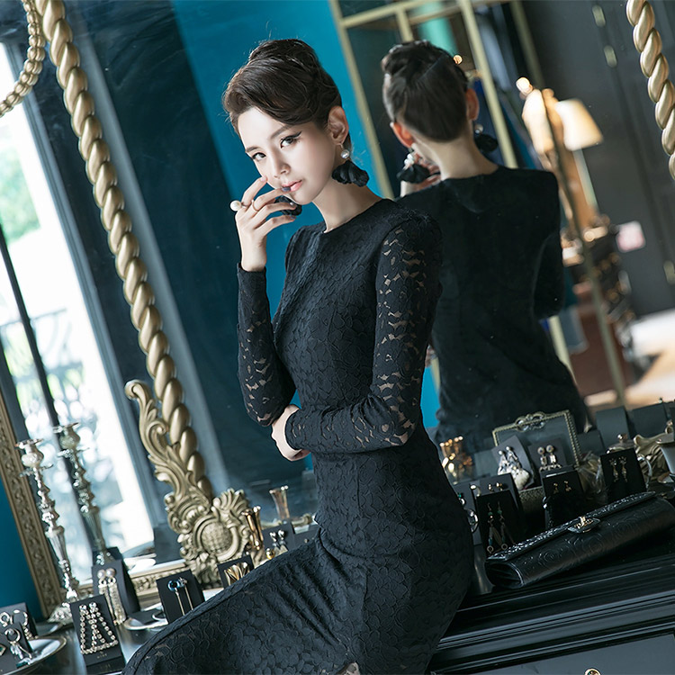 D-4709 Romantic Lace Mermaid Dress * L size production * (84th REORDER)