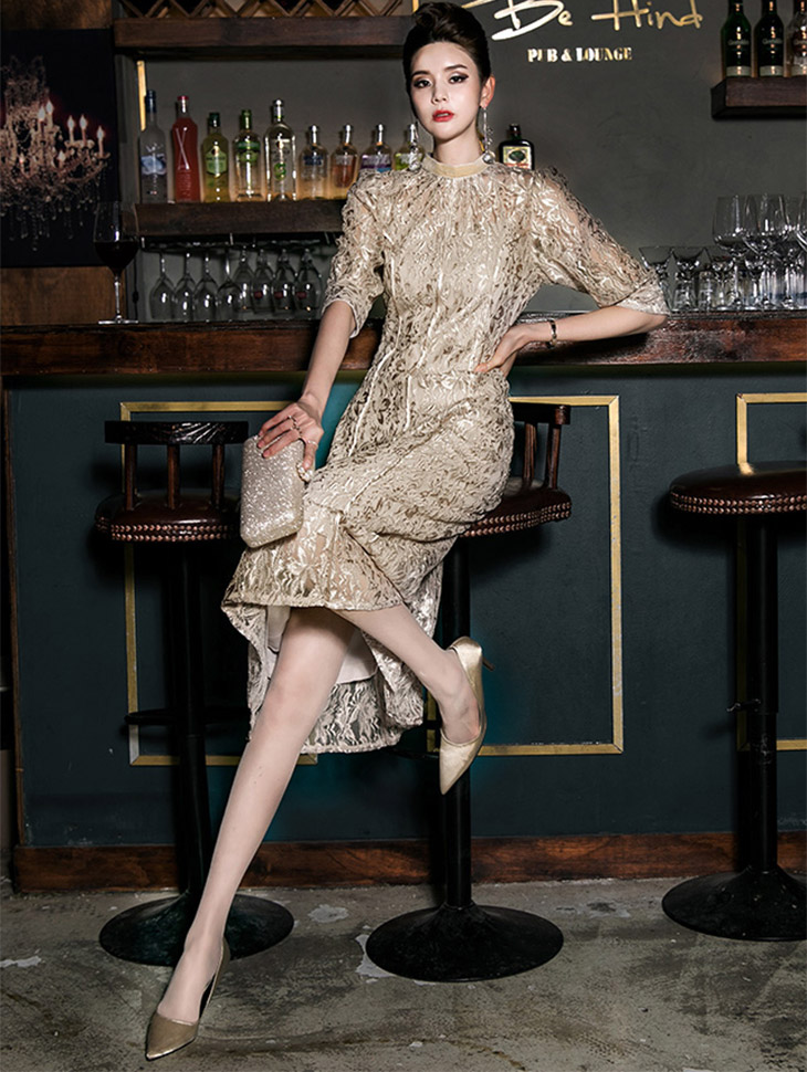 D3694 Skaline Shine Lace Dress (inner set) (12th REORDER)