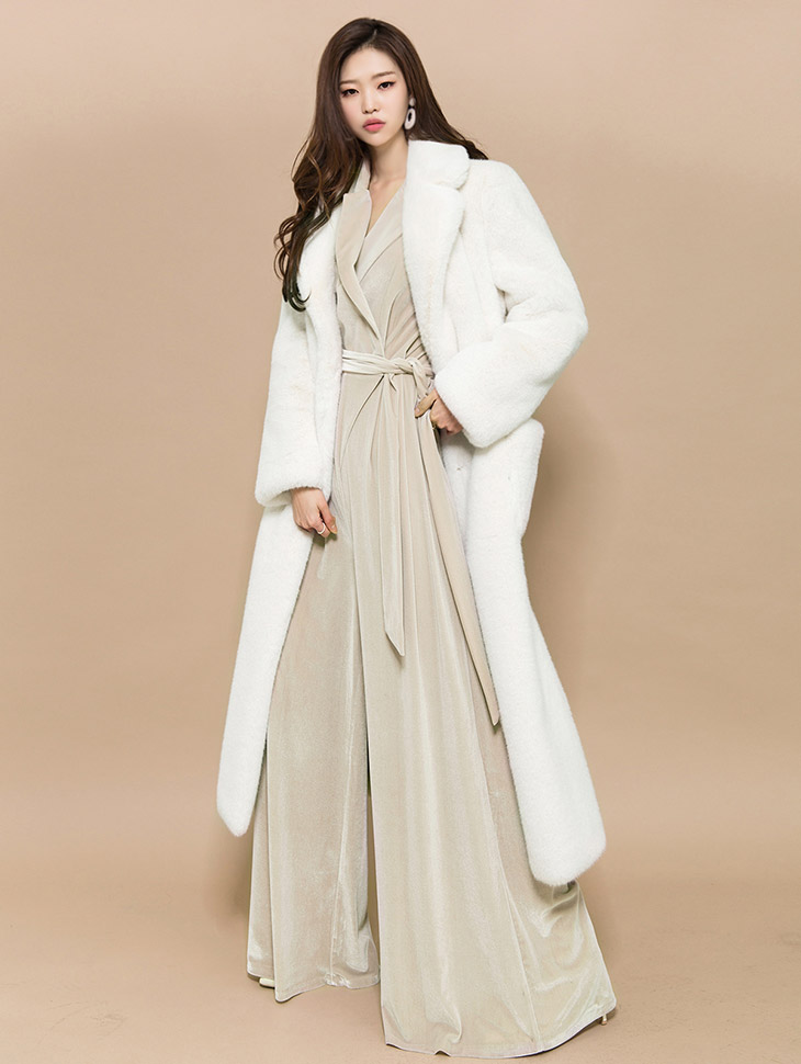 J501 mood Maxi Long Vent Coat (30th REORDER)