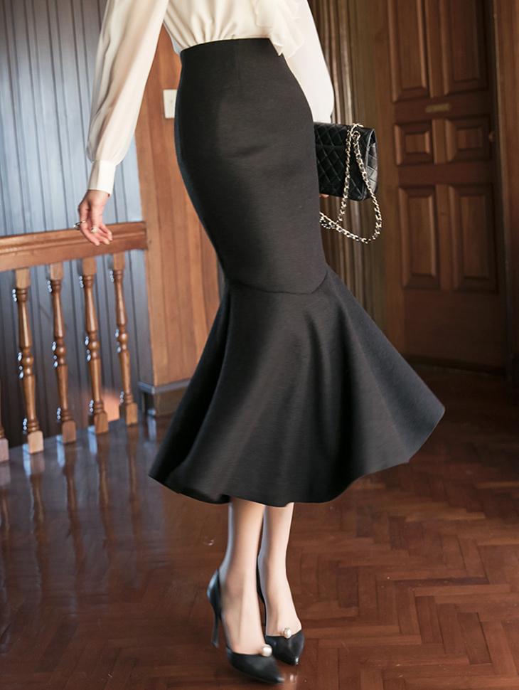SK2012 Bicoa Slit Mermaid Skirt