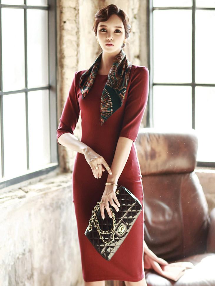 D2819 eden Slim Dress * L size production * (220reorder)