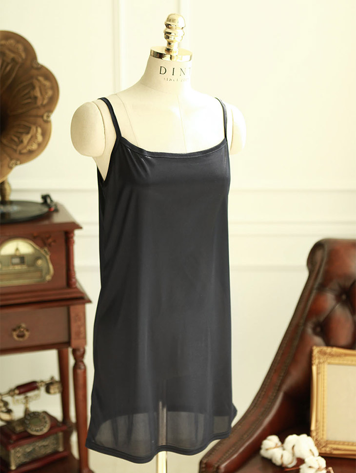 E-3967 simple silky String Sleeveless shirts (98reorder)