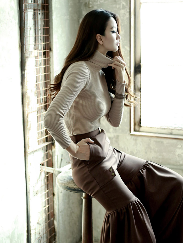 E-4231 Soft Turtle Slim Knit Tower (110reorder)