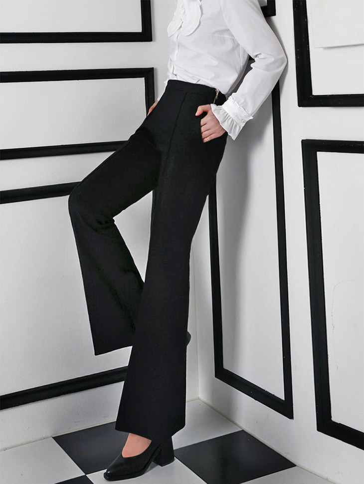P1583 stealthy dark Slacks * large size production * (118th REORDER)