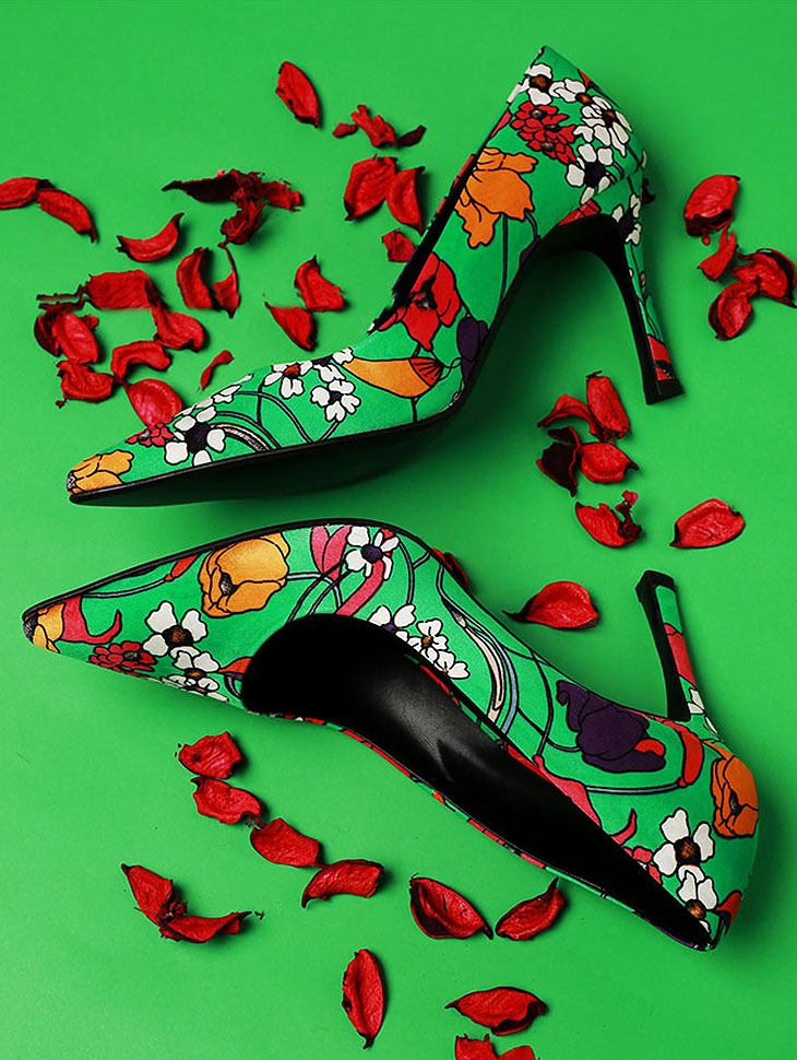 DTHAR-001 Season Flower Stiletto Hill * HAND MADE *