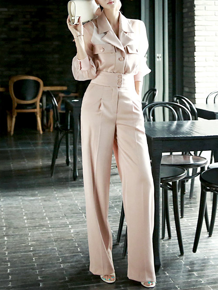 P1734 Bruny wide high waist Pants