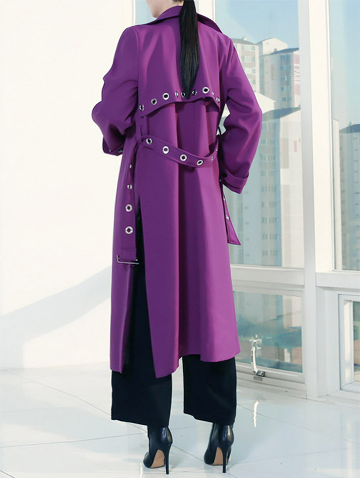 J-4701 Slimy Eyelet Trench Coat (Beltset) (15th REORDER)