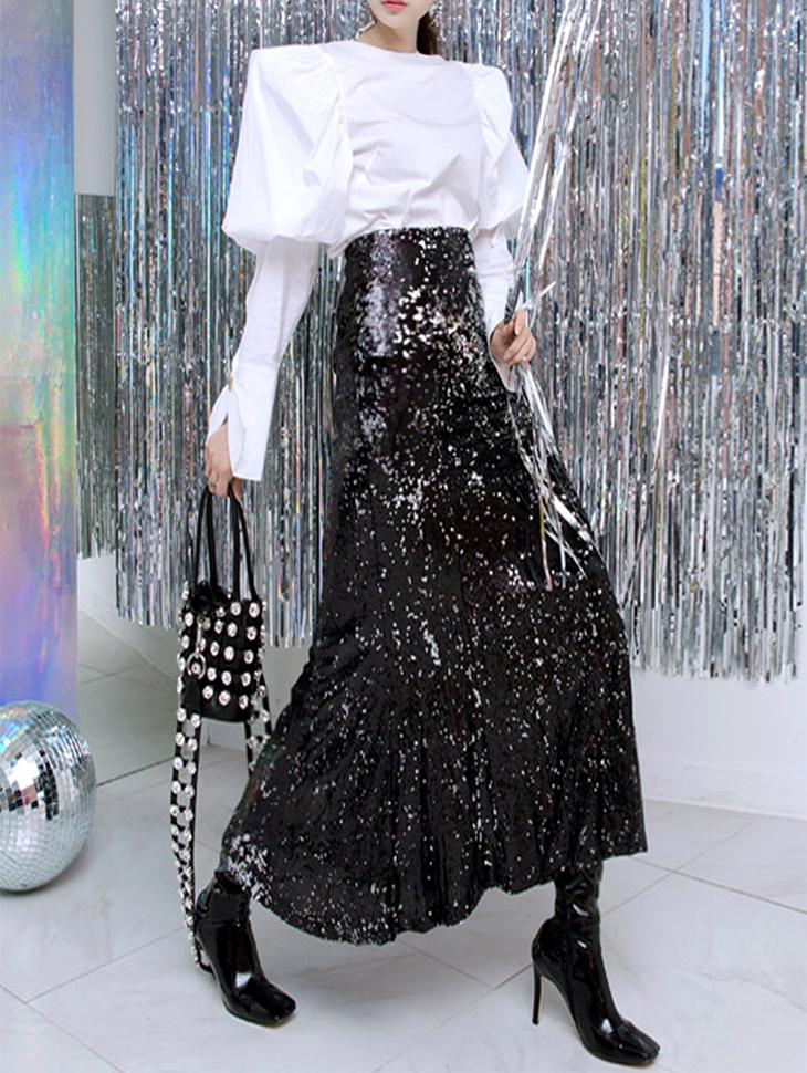 SK1592 Bliss Mermaid Spangle Skirt (15reorder)