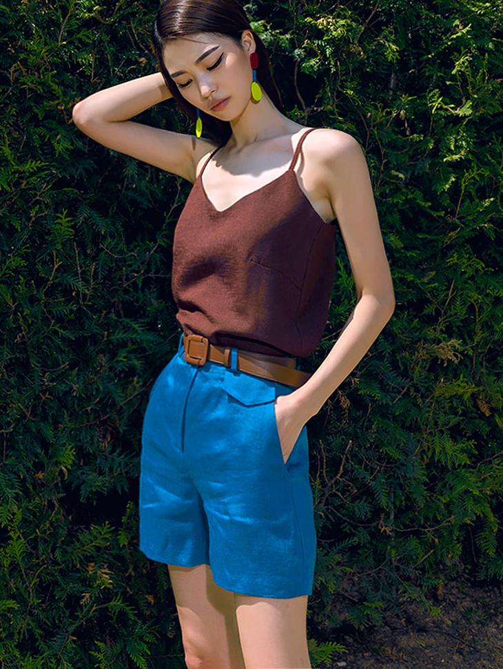 P1872 Linen Short pants(12th REORDER)