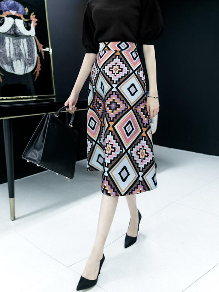 SK1658 LETTANE diamond skirt
