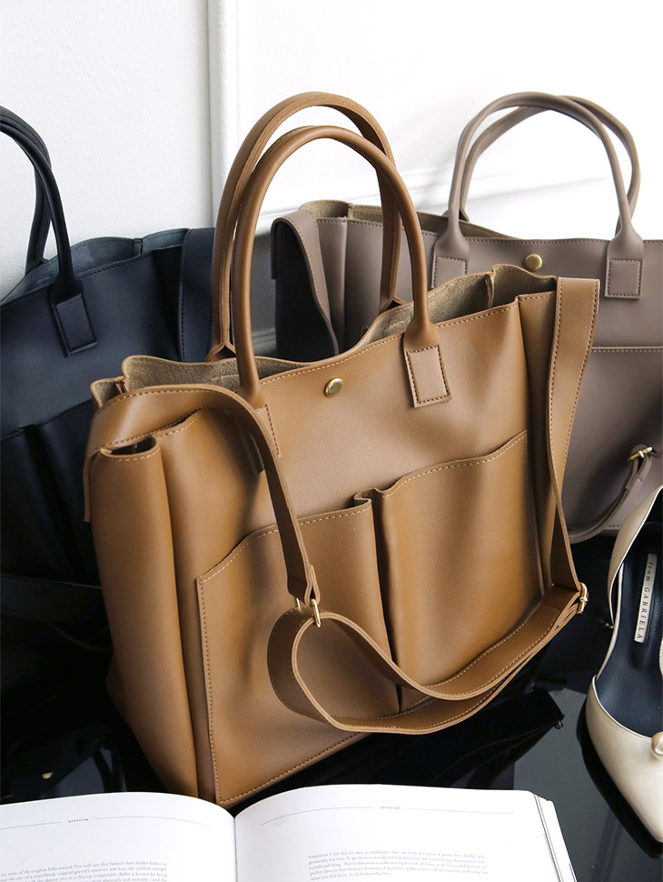 A-963 Gold Square Modern Tote Bag