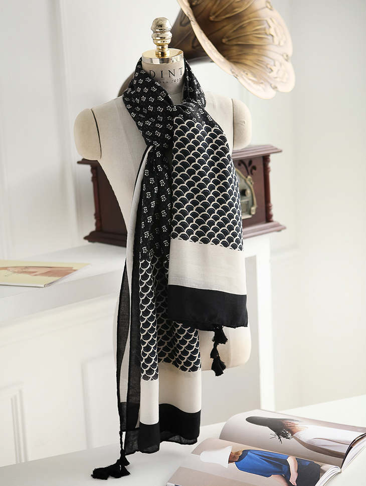 AS-1311 Terry large mix scarf (15reorder)