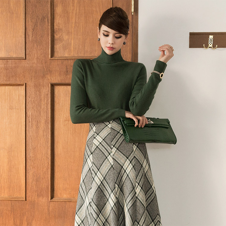 E-4057 Cashmere Basic Turtle Knit Top (179th REORDER)