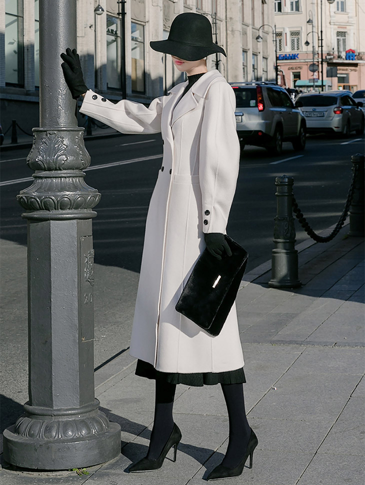 J-5058 Overburning Classic Long Coat * SPECIAL SALE *