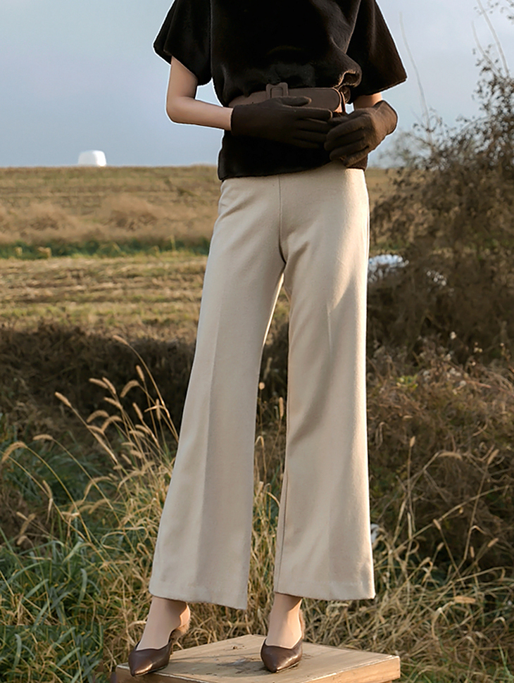 P1954 Wool Straight Pants