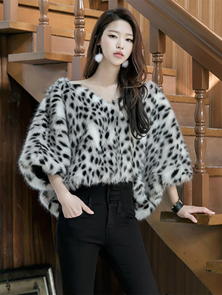 E9001 Rueli Leopard Fur Top (12th REORDER)