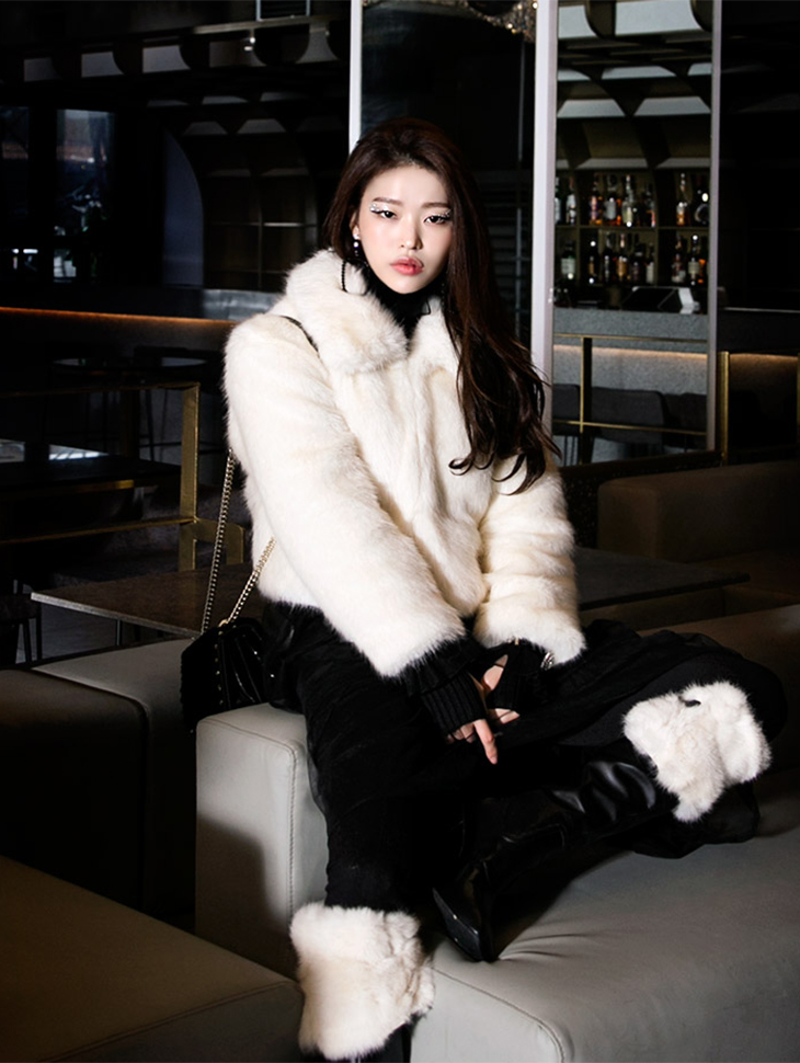 J482 Overlapel Fake Fur Jacket (12th referer)
