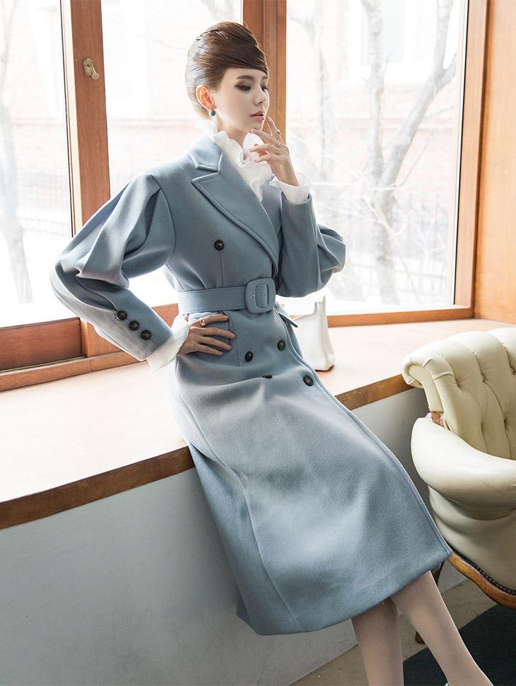 J495 Lunatukara Coat (Beltset) (can be worn as a dress)