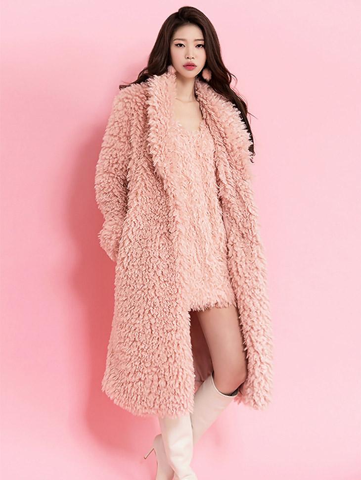 J500 Soft Long Fur Coat