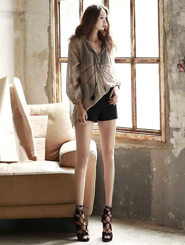 P1277 Linen Short Pants * L size production * (185reorder)