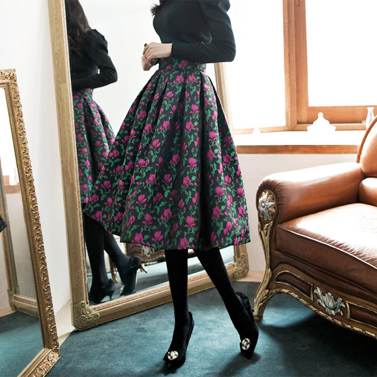 SK1597 Lyle Flower Zagarde Skirt (57th REORDER)