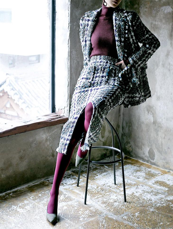 SK1602 Othello Tweed Pocket Skirt (6th order)