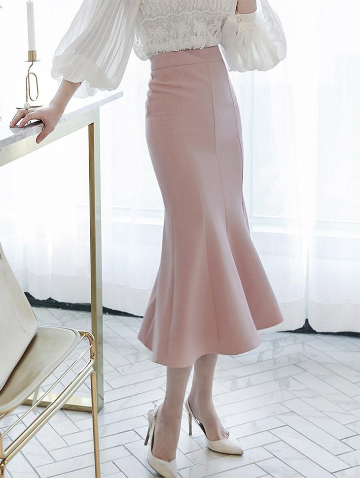 SK1631 honey Mermaid Long Skirt (58th REORDER)