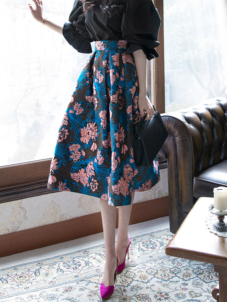 SK1637 Flower Sack Volume Skirt