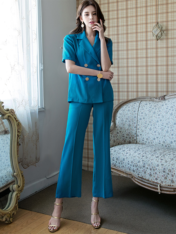 P1855 Femme Classic Slacks Pants * Black color *