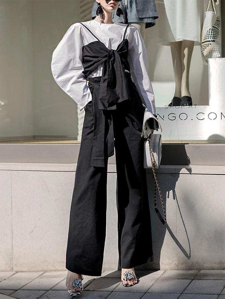 P1863 Holic Linen Wide Wrap Pants (15reorder)