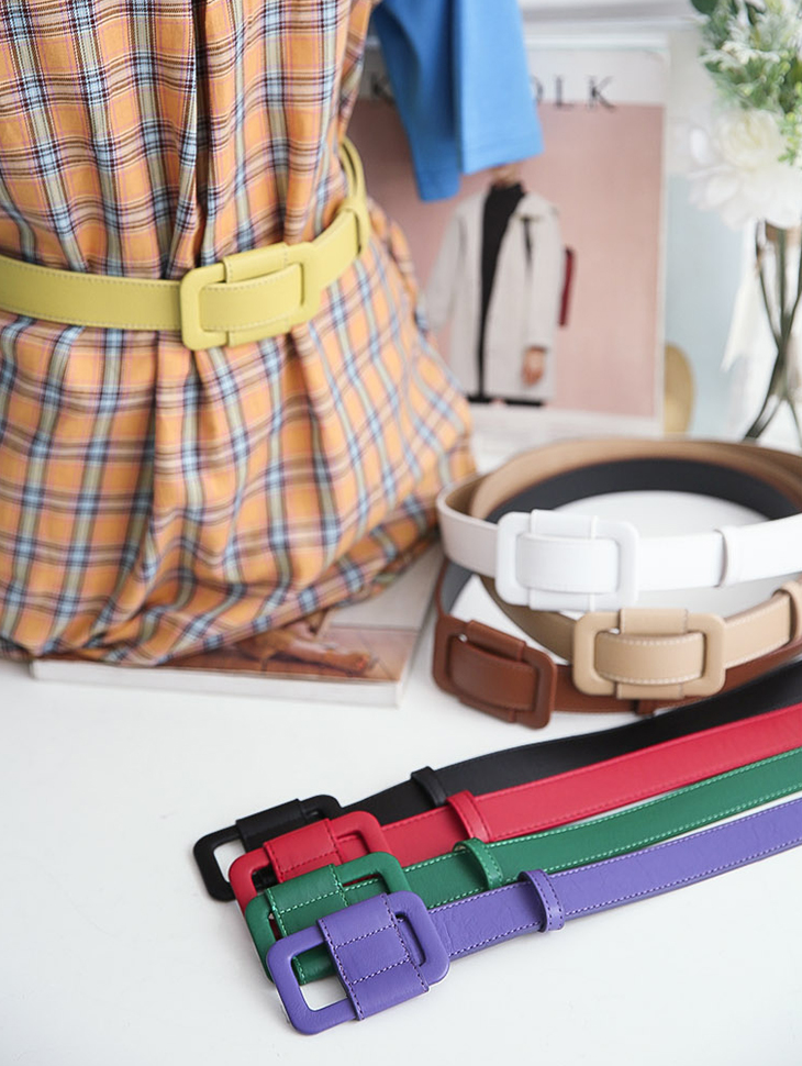 AT-289 Colorful Square Belt (13reorder)